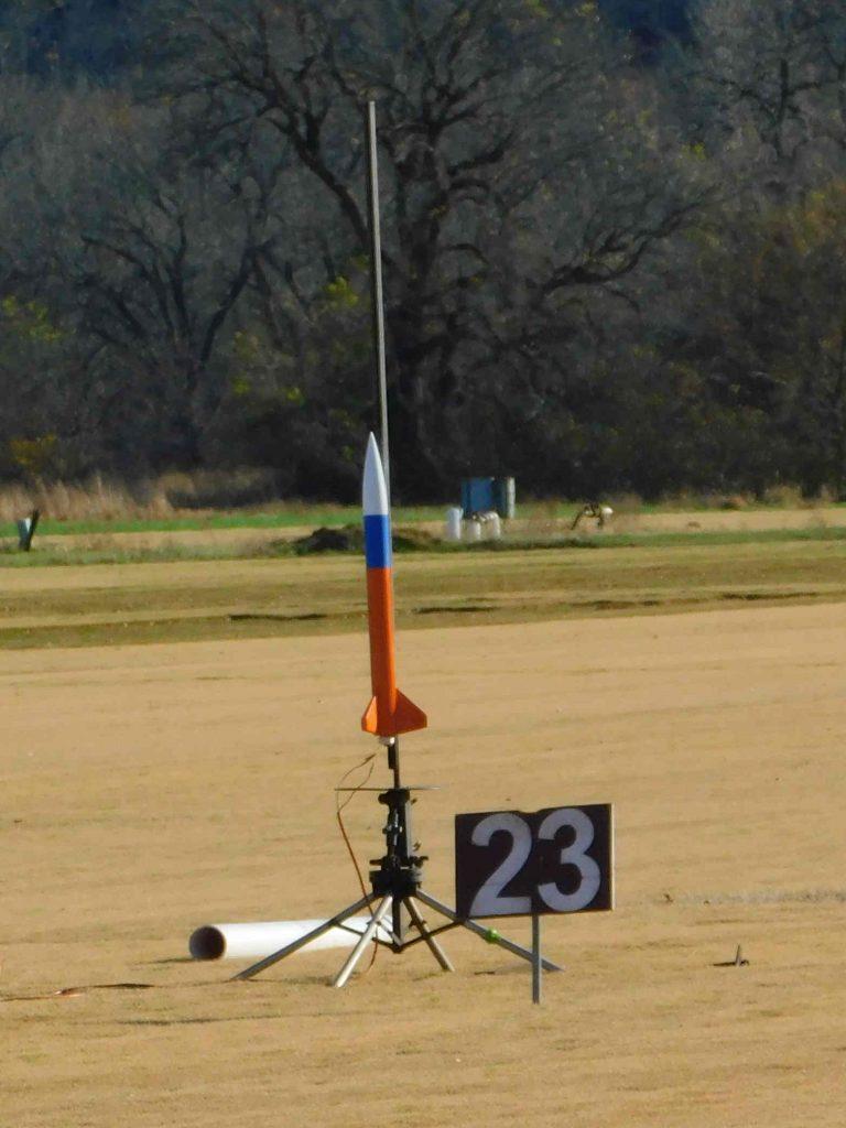 Rocket ready for liftoff
